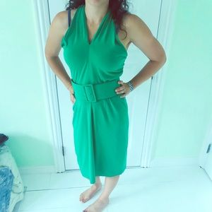 David Meister Kelly green dress